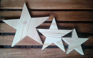 simple easy to make 5 point stars for christmas decoration, christmas decorations, crafts, seasonal holiday decor