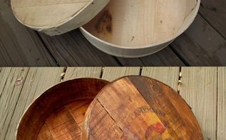 how to make a new cheese box look old, crafts, repurposing upcycling