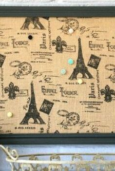 easy fabric covered bulletin board, chalk paint, crafts