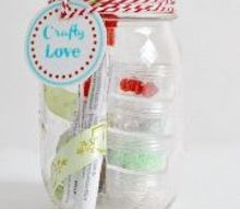 mason jar gift for the crafter in your life, crafts, mason jars