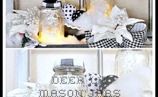 deer lit mason jars, crafts, mason jars, seasonal holiday decor