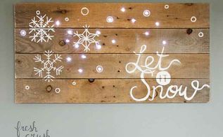 lighted pallet sign for christmas, christmas decorations, diy, how to, pallet, seasonal holiday decor