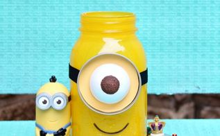 minion mason jar gift, crafts, how to, mason jars