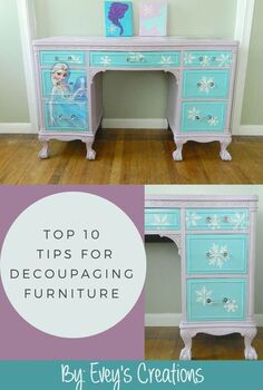 10 tips to decoupaging the perfect image onto furniture, decoupage, painted furniture