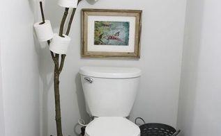 rustic bathroom branch toilet paper holder, bathroom ideas