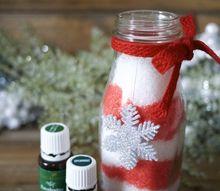 candy cane bath salts, christmas decorations, crafts
