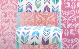 chair makeover, painted furniture, reupholster