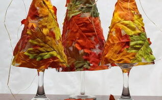 fall leaf tree luminaries, crafts, seasonal holiday decor, thanksgiving decorations