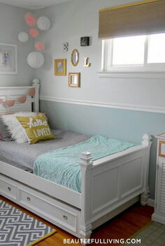 modern girl chic bedroom makeover, bedroom ideas, diy, home decor, wall decor