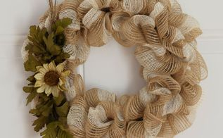 fall mesh ribbon wreath, crafts, seasonal holiday decor, wreaths