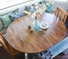 breakfast nook table makeover, kitchen design, painted furniture