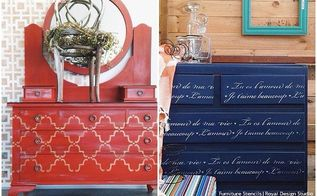 12 affordable decorating ideas with furniture stencils, chalk paint, home decor, painted furniture