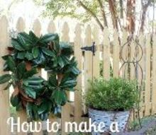 how to make a magnolia wreath, christmas decorations, crafts, gardening, how to, wreaths