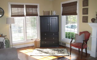 front room update bamboo blinds from blinds com, home decor, living room ideas, window treatments