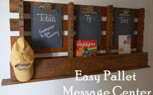 easy pallet message board, diy, organizing, pallet, repurposing upcycling, woodworking projects
