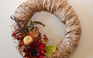 brown paper bag wreath base, crafts, how to, repurposing upcycling, seasonal holiday decor, wreaths