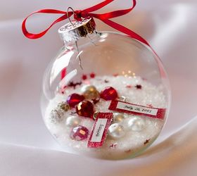 Christmas Ornament DIY Gift That Is A Gorgeous Personalized ...