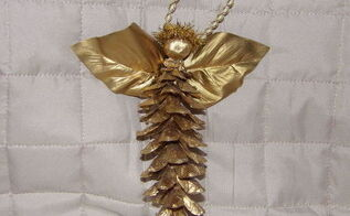 pinecone angel, crafts, seasonal holiday decor, Pinecone Angel