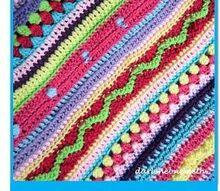 crocheted stitch sampler blanket, crafts