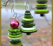 adorable christmas tree ornaments made from buttons, christmas decorations, seasonal holiday decor