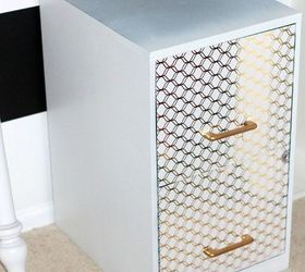 diy file cabinet desk decoupage how to painted furniture repurposing upcycling