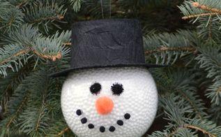 frosty the snowman homemade ornament, christmas decorations, seasonal holiday decor