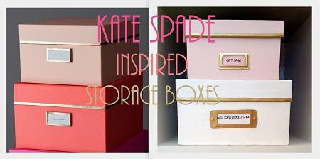 Diy Kate Spade Inspired Storage Boxes Craft Rooms Crafts Diy Home Decor