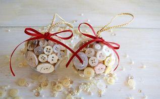 diy button christmas ornament, christmas decorations, seasonal holiday decor
