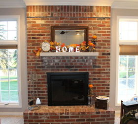 I need advice for updating a very large brick fireplace wall ...