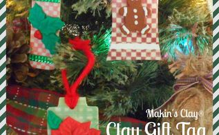 diy clay gift tag ornaments craft video, christmas decorations, crafts, seasonal holiday decor