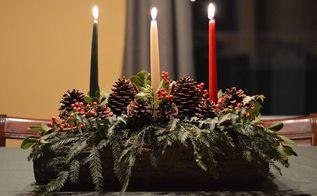 christmas yule log diy tutorial, christmas decorations, crafts