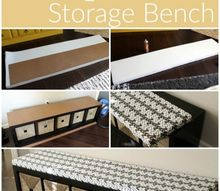 easy diy upholstered bench, how to, storage ideas, reupholster