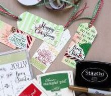 diy watercolor christmas gift tags, christmas decorations, crafts, how to