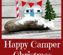 happy camper christmas, christmas decorations, crafts, seasonal holiday decor