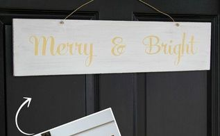 super easy diy merry bright sign, crafts, seasonal holiday decor