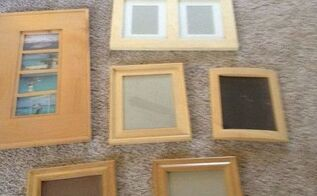 q oak picture frames shabby chic color, crafts, repurpose household items, repurposing upcycling, shabby chic, wall decor, woodworking projects