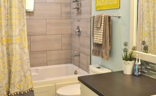 a happy yellow aqua kids bathroom, bathroom ideas, painting