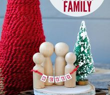 mini christmas wooden family, christmas decorations, crafts