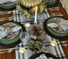 thanksgiving tablescape in the dining room, seasonal holiday decor, thanksgiving decorations