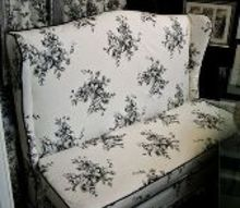 when i bought this old settee in 2012 i knew it could be a beauty, crafts, repurposing upcycling, reupholster