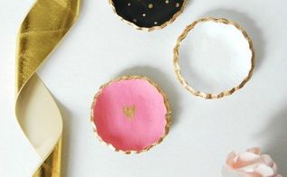 diy clay jewelry bowls gift idea, crafts, how to