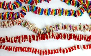make a fabulous felt garland and decoration out of old sweaters, christmas decorations, crafts, repurposing upcycling, wreaths