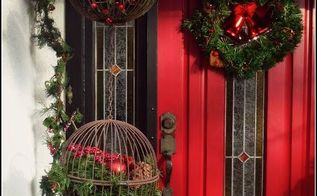 christmas cages, christmas decorations, crafts, curb appeal, repurposing upcycling, seasonal holiday decor
