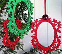 painted and glittered handmade ornaments, christmas decorations, crafts, seasonal holiday decor