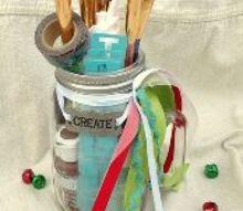 mason jar gift for the paint lover, chalk paint, chalkboard paint, crafts, mason jars