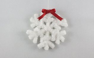 crystal snowflakes, christmas decorations, crafts, repurposing upcycling, seasonal holiday decor, Add a bow