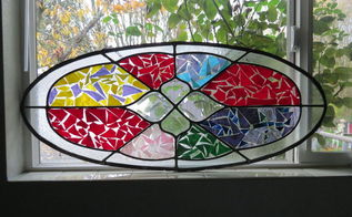 repurpose crack glass window, crafts