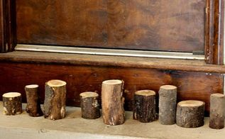 turn your firewood into a woodland themed christmas, christmas decorations, crafts, seasonal holiday decor