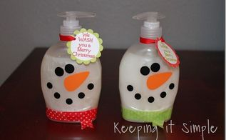 snowman soap perfect for teacher or neighbor gift, crafts
