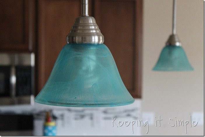 Turquoise pendants light how to dye light shades diy for Painting light shades